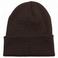 Custom Slouchy Beanie Hat Winter Skullies Beanies Hat Green Fold Beanie Hats  3