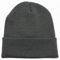 Custom Slouchy Beanie Hat Winter Skullies Beanies Hat Green Fold Beanie Hats  5