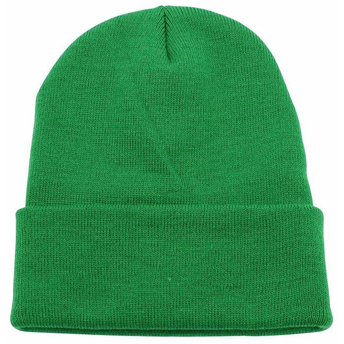 Custom Slouchy Beanie Hat Winter Skullies Beanies Hat Green Fold Beanie Hats  1