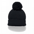 Wholesale Custom Label Beanies Women's Favorite Waffle Knit Pom Beanie