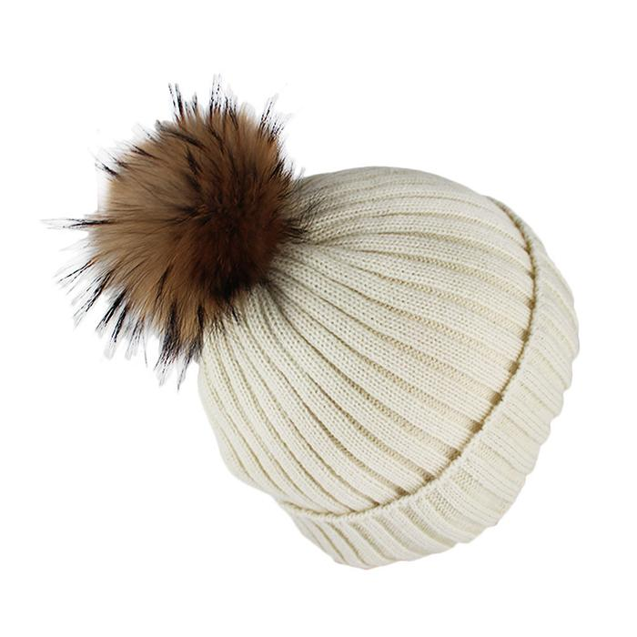 Custom Blank Basic Pom Beanie Knit Hat Skull Cap Toque Striped Knit Hat 3