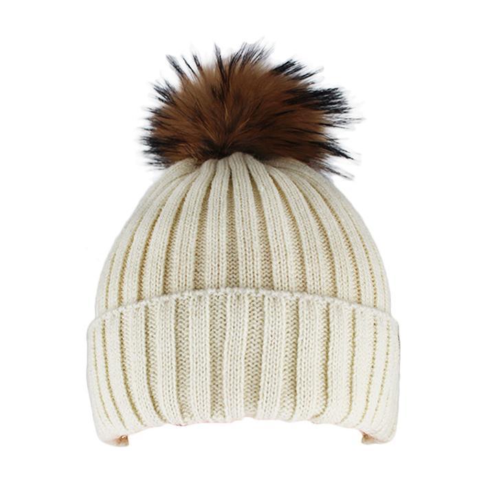 Custom Blank Basic Pom Beanie Knit Hat Skull Cap Toque Striped Knit Hat 4