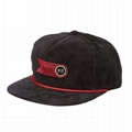 5 Panel Unstructured Snapback nylon Snapback Hat gift for anniversary company