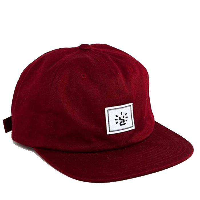 Snapback hats with leather strap custom woven label snapback caps 5 Panel 1