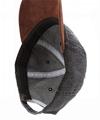 Hot sale 6 panel denim cap baseball hat custom plain suede bill 2 tone dad hat