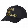Baseball Cap Foil Print Design Made For Mischief Custom Logo Taping Cotton Hats 1