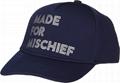 Baseball Cap Foil Print Design Made For Mischief Custom Logo Taping Cotton Hats 2