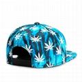 Custom Metal Patch Logo Snapback Hat Full Sublimation Printed Maple Leaf Hat Cap