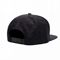 Popular Various Color Caps 5 Panel Unstructured Snapback Cap With Leather Patch