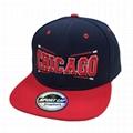 Custom Hip-hop floral Flat Brim Hat Snapbacks Caps Hats metal adjustable strap