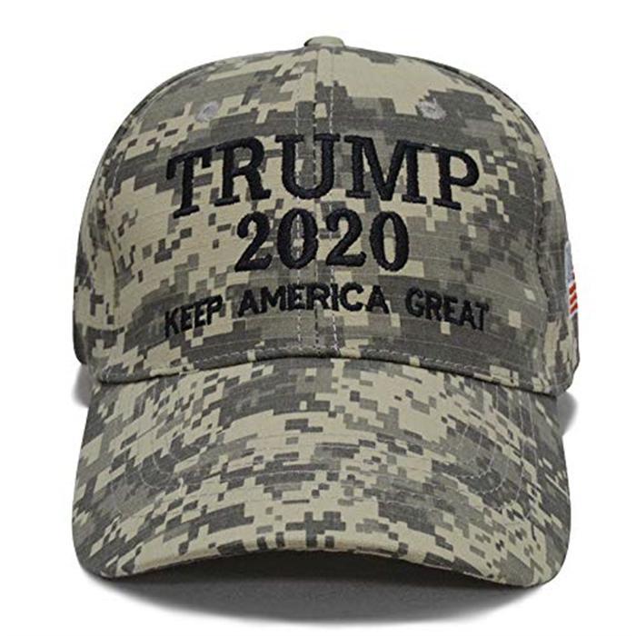 Trump Camouflage Election Hats Camo Baseball Hat With USA Flag 2