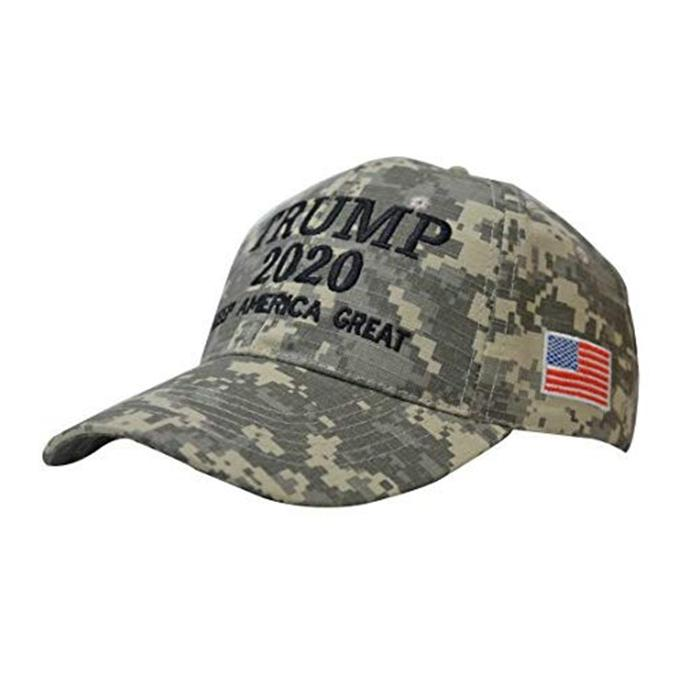 Trump Camouflage Election Hats Camo Baseball Hat With USA Flag