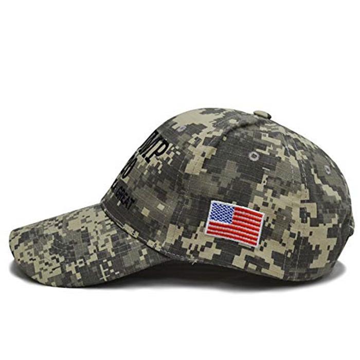 Trump Camouflage Election Hats Camo Baseball Hat With USA Flag 4