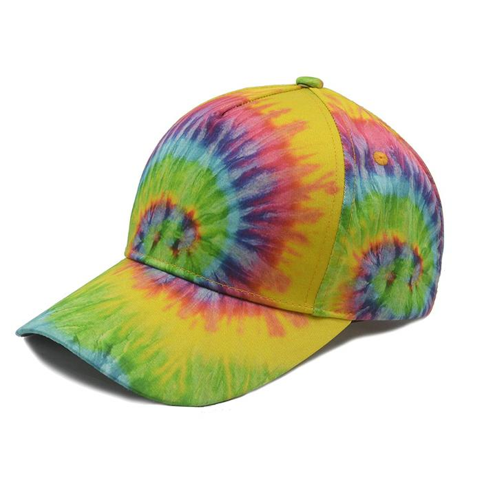 All Over Tie Dye Print Baseball Cap Adjustable Twill Cotton Sports Dad Hat