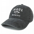 OEM Distressed Dad Hats Custom Embroidered Maui Hawaii 3 Palm Trees Baseball Cap