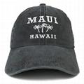 OEM Distressed Dad Hats Custom Embroidered Maui Hawaii 3 Palm Trees Baseball Cap