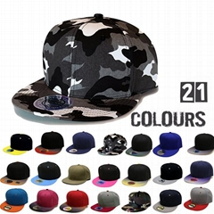 Wholesale Gradient color snapback cap sticker 6 panel trucker hat sports caps