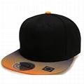 Wholesale Gradient color snapback cap sticker 6 panel trucker hat sports caps