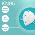 2020 Stock kn95 Collapsible Nonwoven Dust N95 Coronavirus Mask