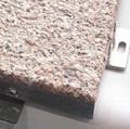 Stone pattern aluminum decorative solid