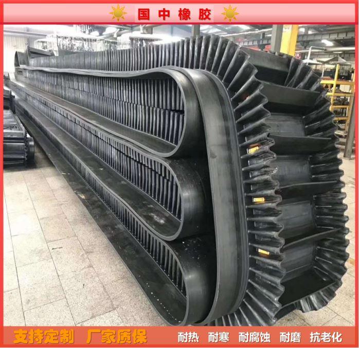Corrugated edge conveyor belt, high temperature resistant 1