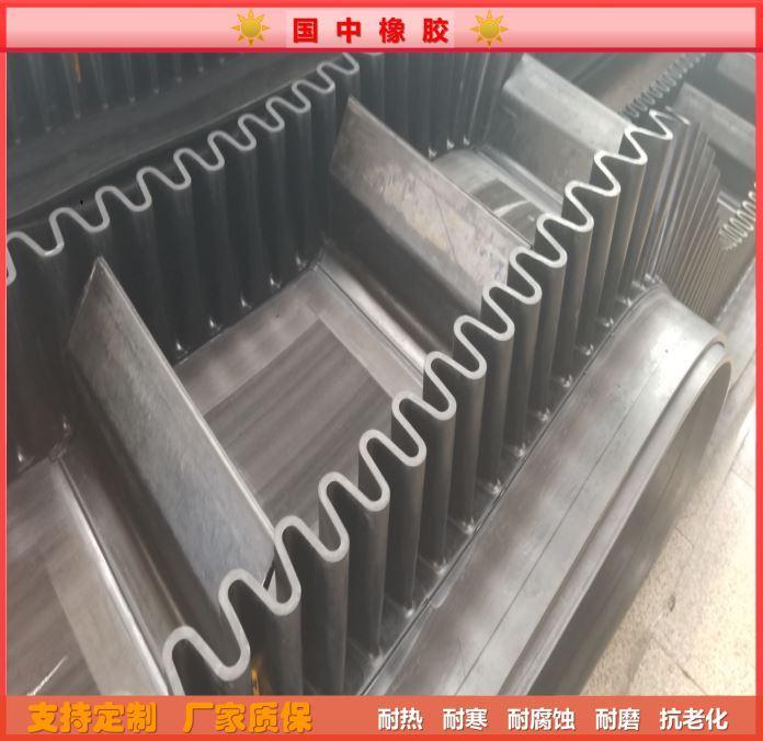 Corrugated edge conveyor belt, high temperature resistant 4