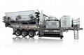 Tire type mobile crushing station