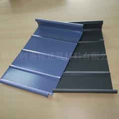 體育場館奧體中心氟碳漆鋁鎂錳屋面板 45-470直立鎖邊