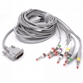 M1700A M1771A M01772A M2662A One-piece Series EKG Cable With Leads for Philips