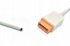 GE Marquette MAC-Lab Compatible Reusable Adult Rectal  Temperature Probe