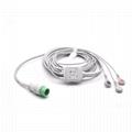 Compatible Biolight One Piece ECG Cable