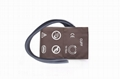 Neonatal blood pressure cuff with double