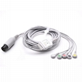 AAMI One-piece ECG Cable with 5 leads