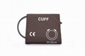 Reusable single tube NIBP blood pressure cuff for thigh