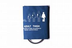 Single 20.5-38cm pressure cuff tube blood pressure NIBP cuff for adult thigh