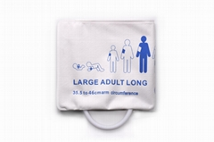 Disposable large adult latex-free blood pressure NIBP cuffs  35.5  to 46 cm
