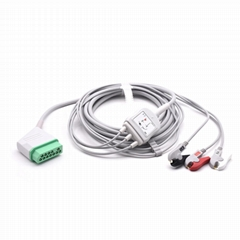 Nihon Kohden Compatible Direct-Connect ECG Cable 3 Leads Grabber