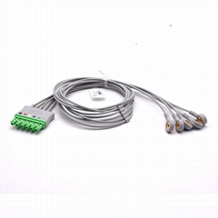 Draeger Compatible ECG Leadwire 5 Leads Snap