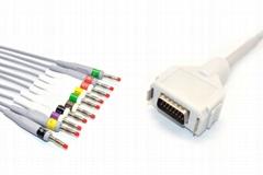 Fukuda Denshi Compatible CardiMax FX-7102 EKG Cable,IEC,Banana 4.0