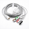 Compatible Philips One-piece ECG Cable with 5 leads Graber AHA 2
