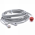 Bionet One-piece ECG Cable with 3 Leads Snap AHA