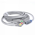 GE Healthcare Compatible Direct-Connect ECG Cable with 3 Leads Snap