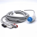 GE/Critikon Compatible Direct-Connect ECG Cable with 3 Leads Grabber