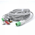 GE>Hellige Compatible Direct-Connect ECG Cable 5 Leads Grabber