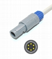 Biosys Compatible Direct-connect ECG Cable with 3 Leads Snap AHA 2