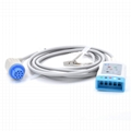 ECG Trunk Cable AHA for 5-lead Compatible Datex