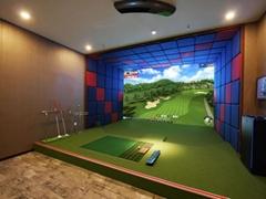 2020高速摄像高尔夫模拟器室内韩国正版系统高清球场免费升级方案