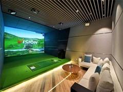 室內高爾夫模擬器球場家用投影系統儿童套裝虛擬設備