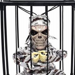Halloween decorations cage ghost pendants electric trick props led toy haunted