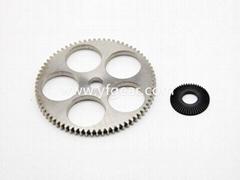 东莞齿轮厂定做中小模数铜钢齿轮轴加工